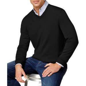 Club Room Mens New Merino Wool Blend VNeck Sweater